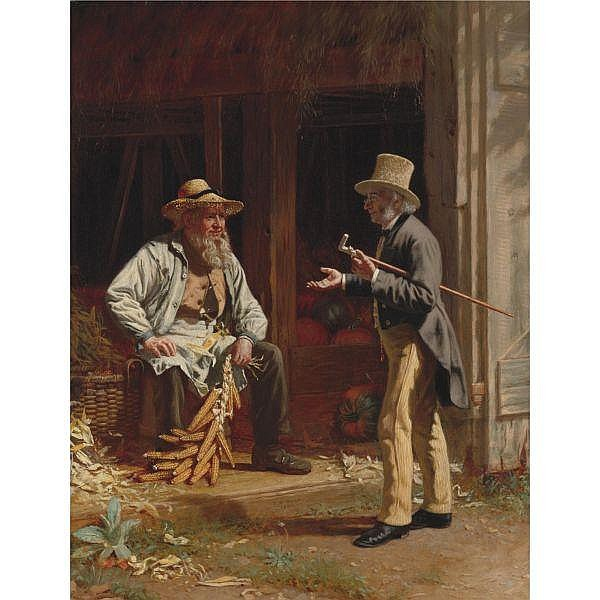 - Thomas Waterman Wood 1823-1913 , When We Were Boys Together oil on canvas