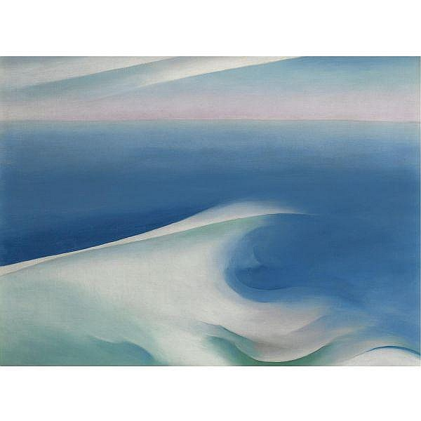 Georgia O'Keeffe 1887-1986 , Blue Wave Maine oil on canvas