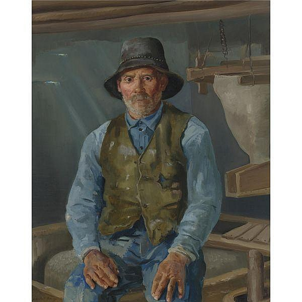 Randall Davey 1887-1964 , Mill Owner at Mora oil on canvas