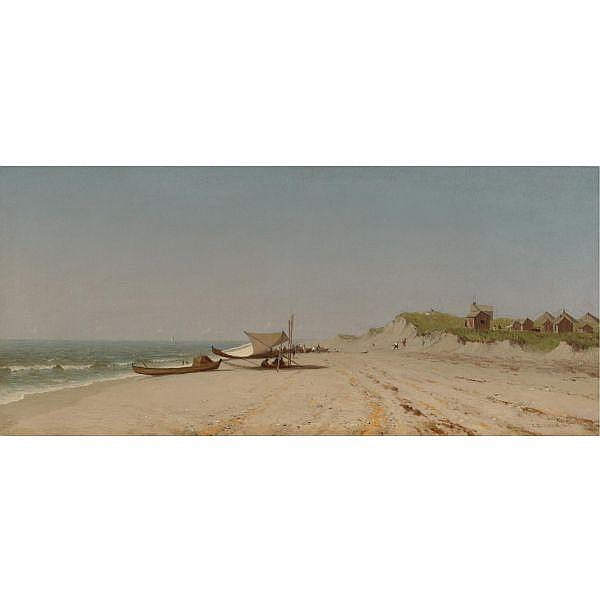 - Sanford Robinson Gifford 1823-1880 , Long Branch Beach oil on canvas