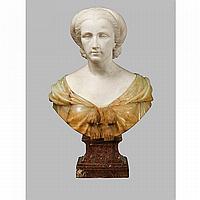 HENRI-JOSEPH-FRANÇOIS TRIQUETI,1804 - 1874 PORTRAIT PRÉSUMÉ ÊTRE MISSWELLESLEY, VERS 1844