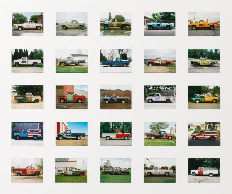 JEFF BROUWS | Partially Painted Pickup Trucks (from <em>American Typologies</em>)