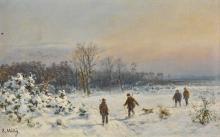 BERNHARD MÜHLIG   Hunters in the Snow