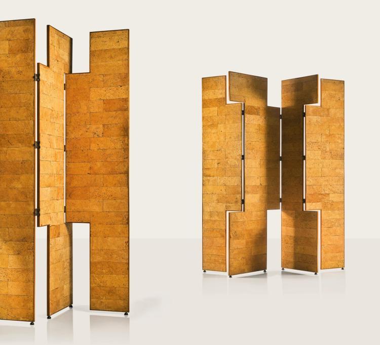 EILEEN GRAY   Two Four-Panel Screens, designed circa 1960, executed circa 1973