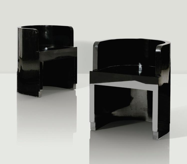 GIUSEPPE PAGANO ET GINO LEVI MONTALCINI | Pair of armchairs, designed circa 1928