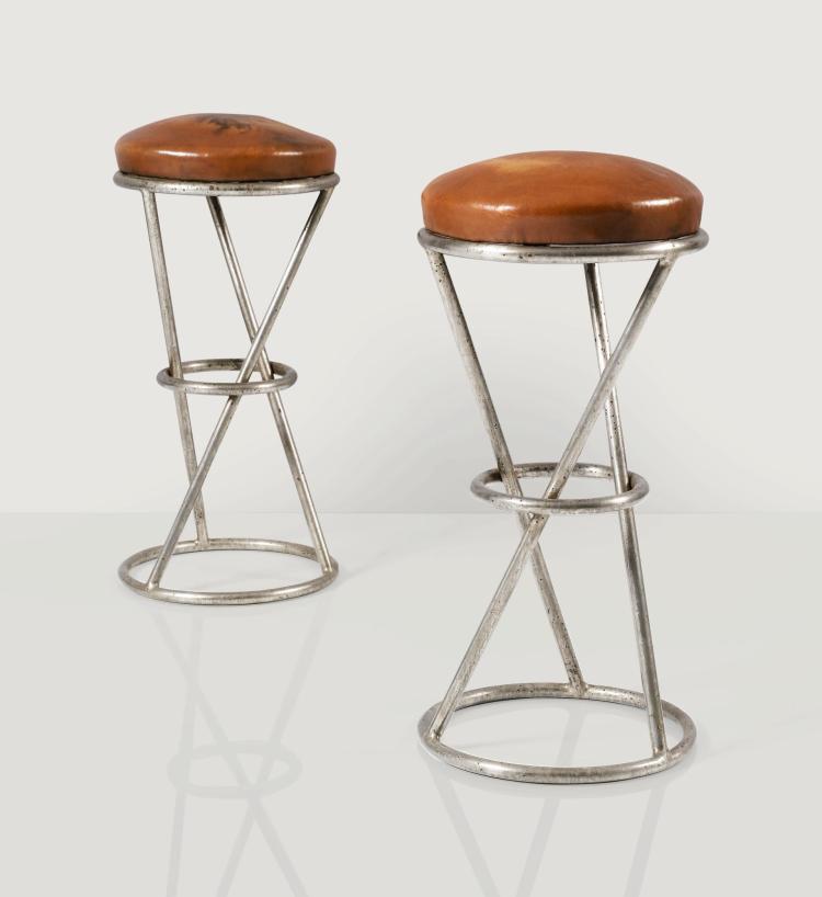 PIERRE CHAREAU | Pair ofMT1004 stools, circa 1930