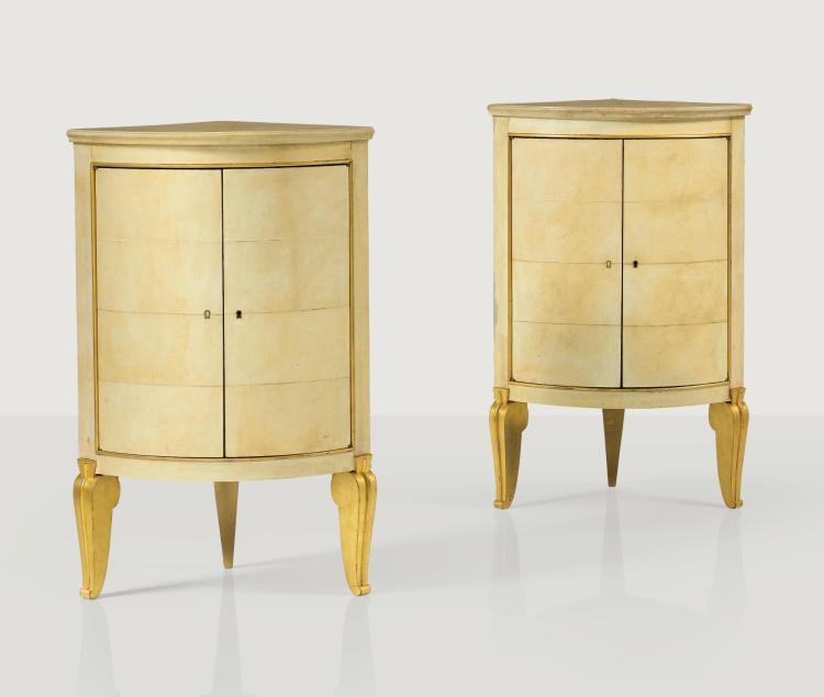 ANDRÉ ARBUS | Pair of corner cabinets, circa 1940