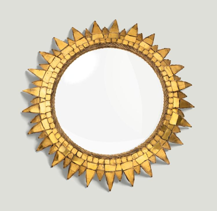 LINE VAUTRIN   Soleil à pointes n. 3 convex mirror, vers 1955