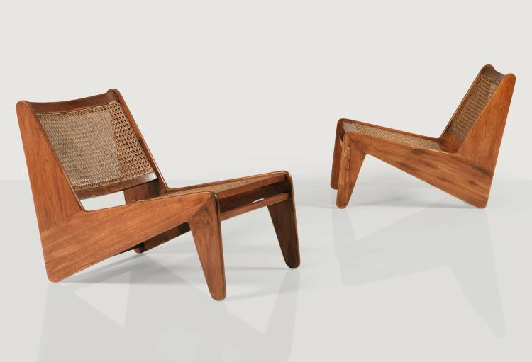 PIERRE JEANNERET | Pair of PJ-SI-59-B chairs, circa 1955