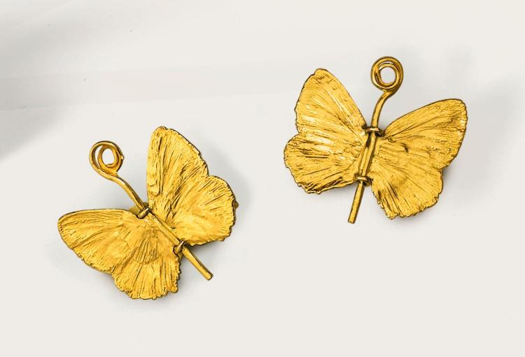 CLAUDE LALANNE   Pair of Papillon earrings, small model,1989