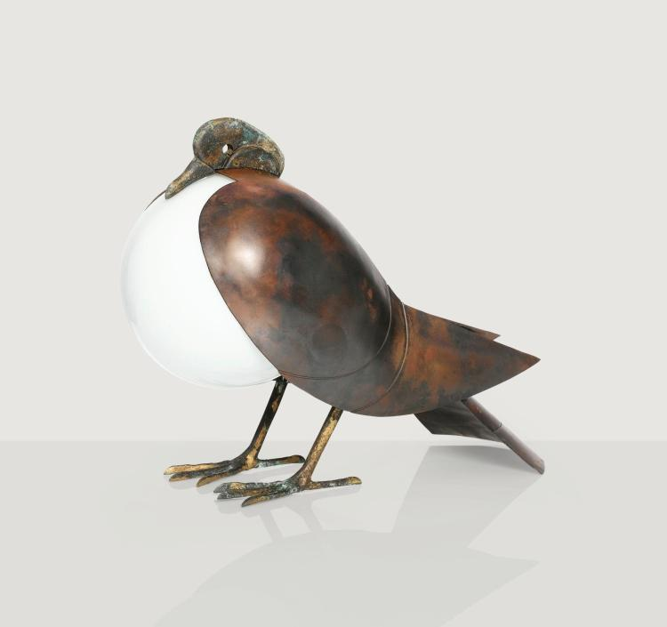 FRANÇOIS-XAVIER LALANNE | Pigeon table lamp, 1996