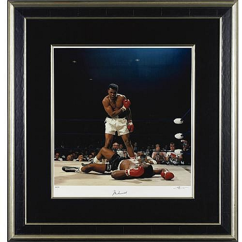 Large Limited Edition Muhammad Ali Signed Photograph by Neil Leifer