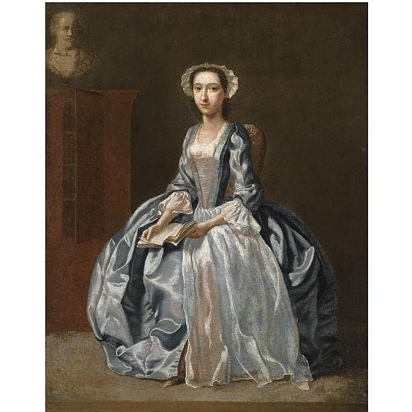 - Francis Hayman, R.A. , c.1708-1776 Portrait of a Lady oil on canvas, unframed