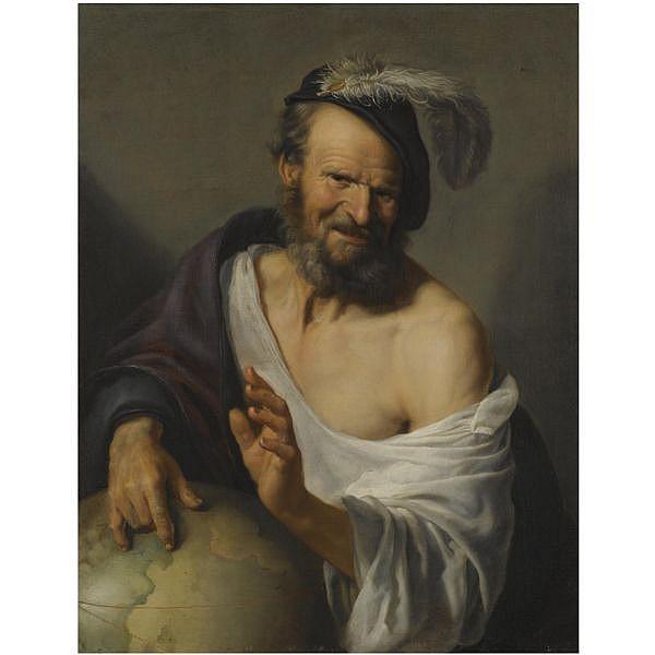 Hendrick Bloemaert , Utrecht 1601/2 - 1672 Democritus oil on canvas