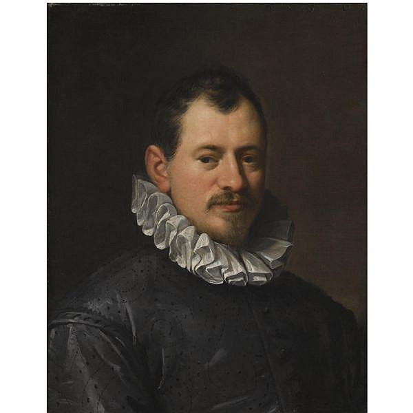 Hans von Aachen , Cologne 1552 - 1615 Prague Portrait of the goldsmith Jacopo Bilivert (1550-1603), bust length oil on canvas