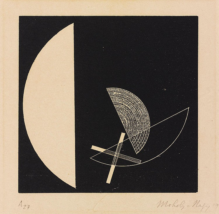LÁSZLÓ MOHOLY-NAGY | Segments of a Circle with Cross (see Passuth 132)