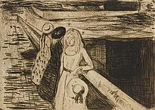 EDVARD MUNCH | The Girls on the Bridge (W. 232; S. 200)