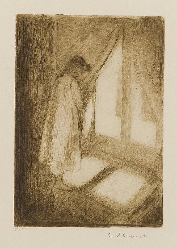 EDVARD MUNCH   The Girlat the Window (W. 5; S. 5)