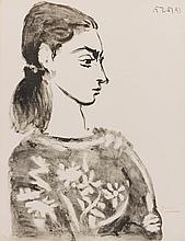 PABLO PICASSO | Femme au corsage à fleurs (Bloch 846; Mourlot 307)