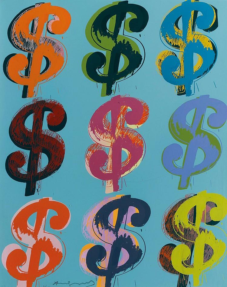 ANDY WARHOL | $ (9) (see F. & S. II.285 - 286)