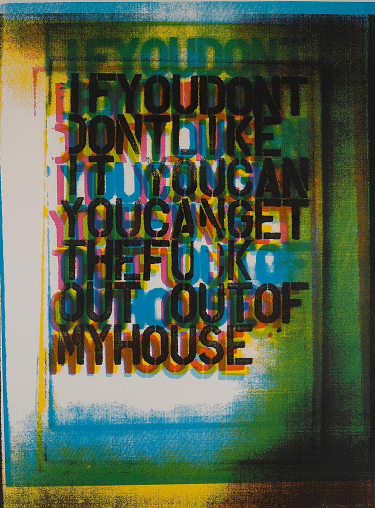 CHRISTOPHER WOOL | My House III