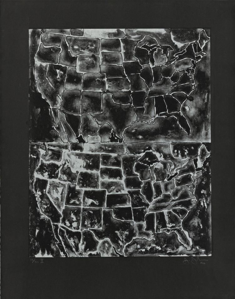 JASPER JOHNS | Two Maps II (ULAE 26)