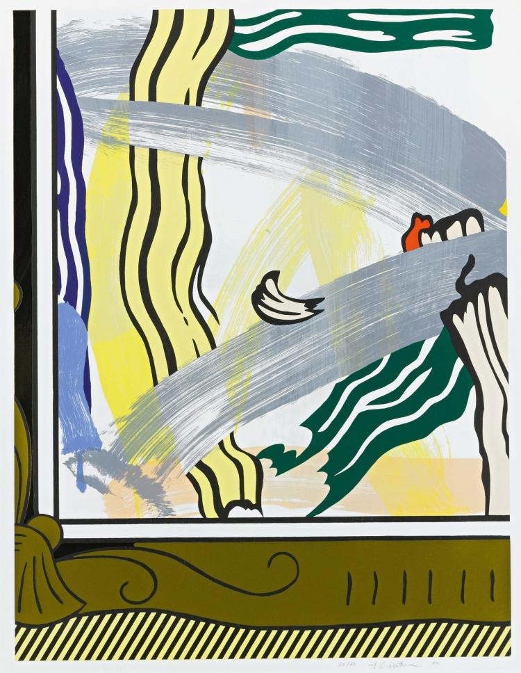 ROY LICHTENSTEIN | Painting in Gold Frame (Corlett 206)