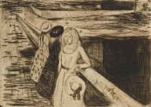 EDVARD MUNCH | The Girls on the Bridge (W. 232; S. 200)