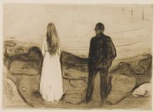 EDVARD MUNCH | Two Human Beings (The Lonely Ones) (W. 13; S. 20)