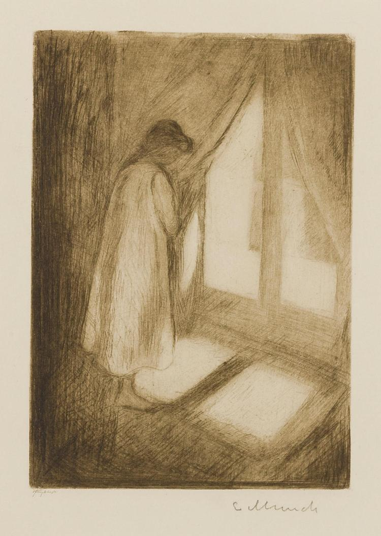 EDVARD MUNCH | The Girl at the Window (W. 5; S. 5)