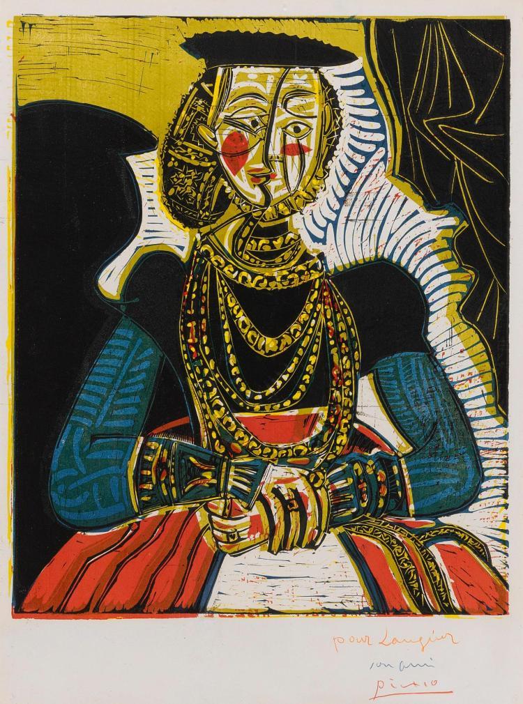 PABLO PICASSO | Portrait de jeune fille, d'après Cranach le jeune.II (B. 859; Ba. 1053)