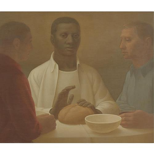 George Tooker b. 1920 , Supper