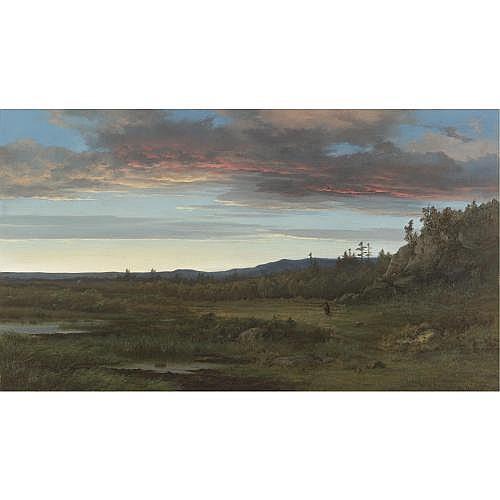 Alexander Wust 1837-1876 , Sunset Landscape