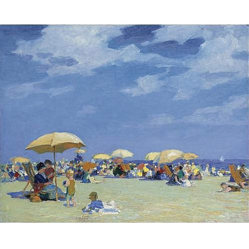 Edward Henry Potthast 1857-1927 , Beach at Far Rockaway