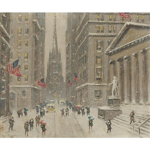 Guy Wiggins 1883-1962 , Wall Street and the Sub-Treasury