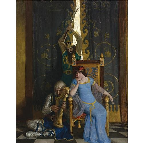N.C. Wyeth 1882-1945 , King Mark Slew The Noble Knight Sir Tristram