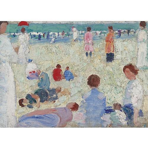 Abraham Walkowitz 1880-1965 , Beach Scene