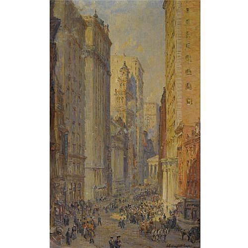 Colin Campbell Cooper 1856-1937 , Broad Street, New York