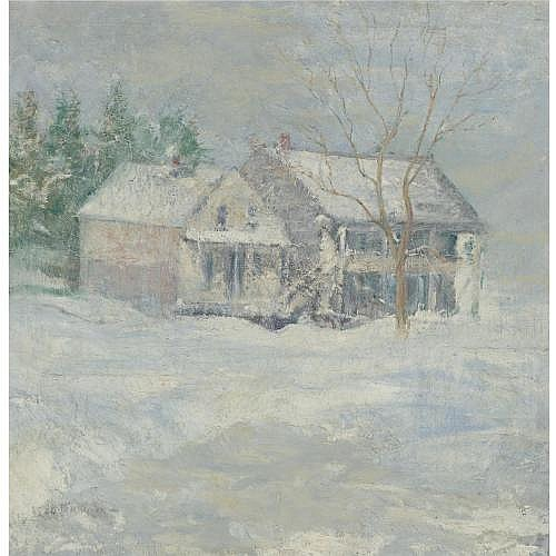 John H. Twachtman 1853-1902 , Brush House, Cos Cob