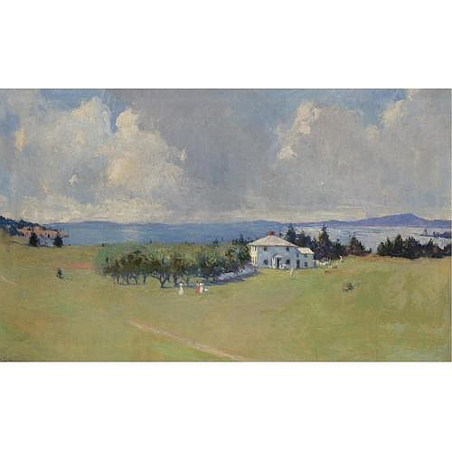 Frank W. Benson 1862-1951 , Wooster Farm (The Farm at North Haven)