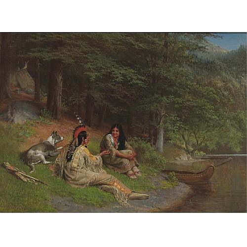 William Holbrook Beard 1823-1900 , Indian Idyl