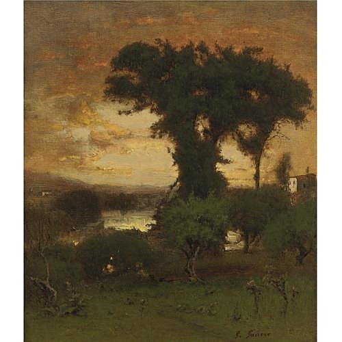 George Inness 1825-1894 , Afterglow