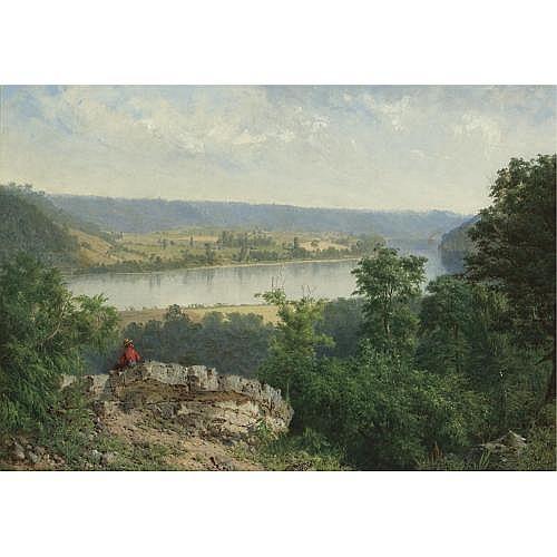 Alexander H. Wyant 1836-1892 , Hudson River View