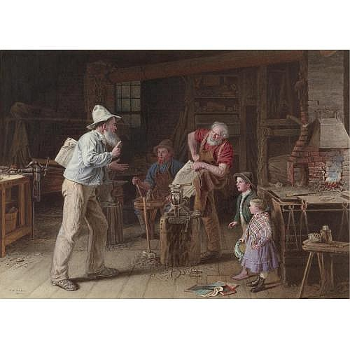 Thomas Waterman Wood 1823-1913 , Arguing the Question