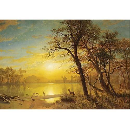 u - Albert Bierstadt 1830-1902 , Mountain Lake