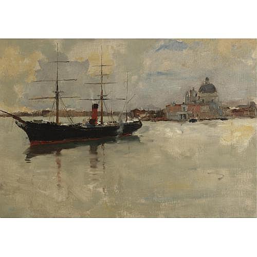 Frank Duveneck 1848-1919 , Scene in Venice