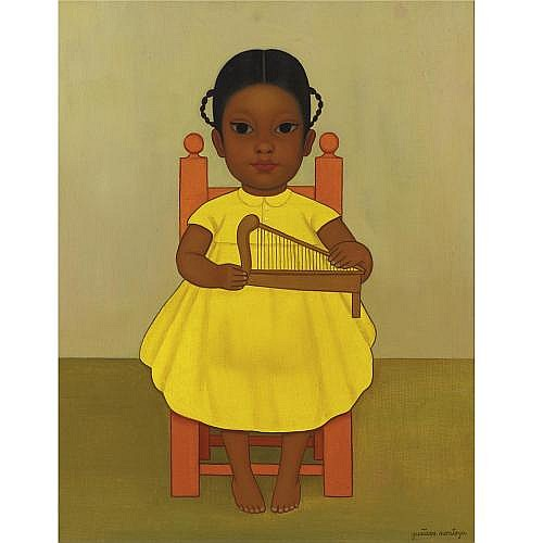 u - Gustavo Montoya (B. 1905) , Girl with Harp