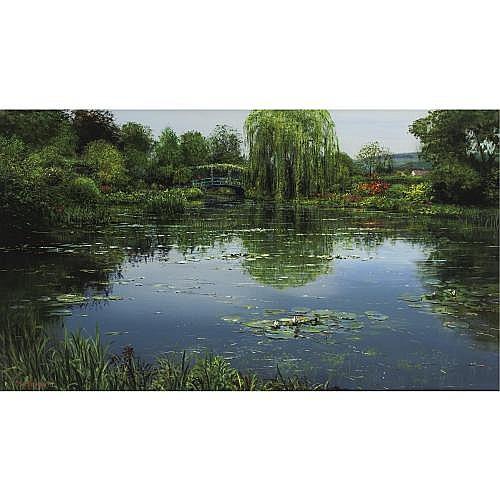 l - Peter Ellenshaw B. 1913 , Giverny Garden