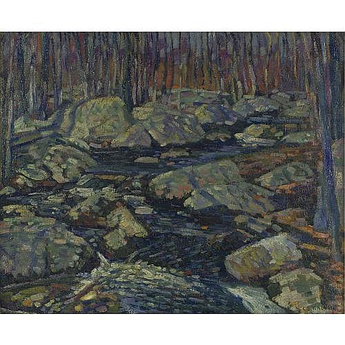 Charles Salis Kaelin 1858-1929 , Woodland Stream