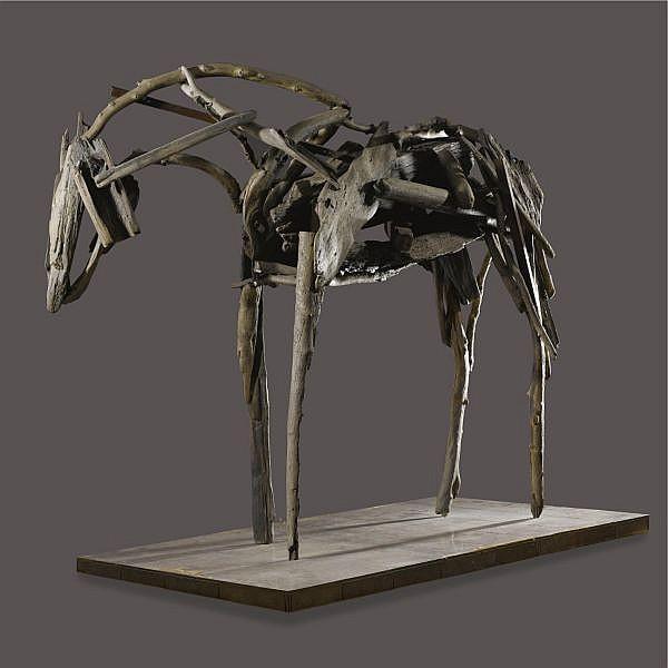 Deborah Butterfield , b. 1949   Standing Horse bronze